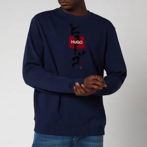HUGO Men's Dongiri Sweatshirt - Open Blue