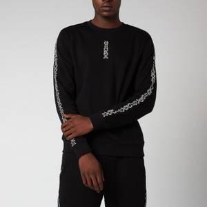 HUGO Men's Doby Crewneck Sweatshirt - Black