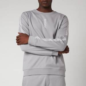 HUGO Men's Doby Crewneck Sweatshirt - Silver