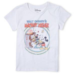 Disney Retro Poster Piano Women's T-Shirt - White