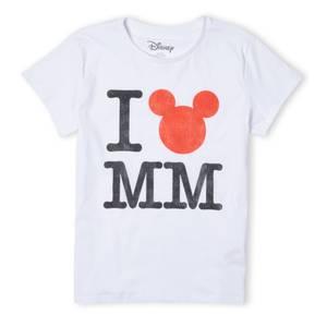 Disney Mickey Mouse I Heart MM Women's T-Shirt - White