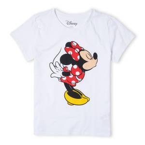 Disney Mickey Mouse Minnie Split Kiss Women's T-Shirt - White