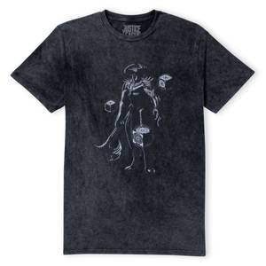 Justice League Steppenwolf Unisex T-Shirt - Black Acid Wash