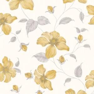Grandeco Magnolia Yellow Wallpaper