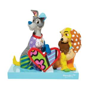 Disney Britto Collection Lady And The Tramp Figure Limited Edition