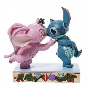 Disney Traditions Stitch & Angel With Mistletoe
