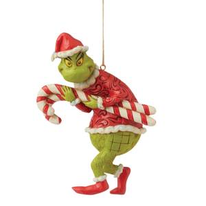 The Grinch By Jim Shore Grinch Stealing Candy Canes Hanging Ornament