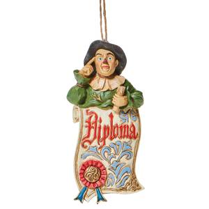 Wizard Of Oz By Jim Shore Scarecrow Diploma Hanging Ornament