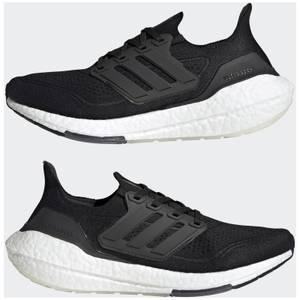 adidas Women's Ultra Boost 21 Running Shoes - Core Black/Core Black/Grey Four