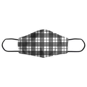 Black And White Tartan Face Mask