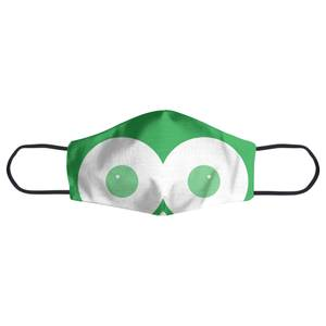 Green Owl Face Mask