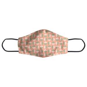 Retro Pink & Green Circles Face Mask