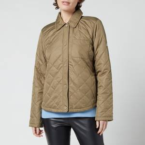 Barbour Women's Blue Caps Quilted Jacket - Dusky Green