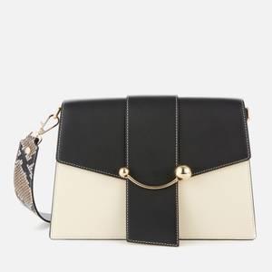 Strathberry Women's Crescent Shoulder Bag - Vanilla/Black/Forest/Desert