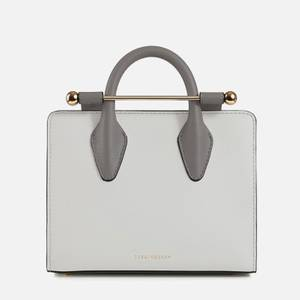 Strathberry Women's Nano Bi-Colour Tote Bag - Pearl Grey/Slate