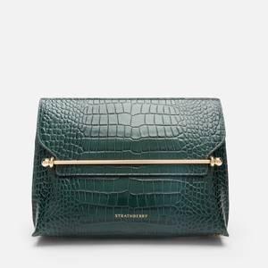 Strathberry Women's Stylist Croc Cross Body Bag - Bottle Green