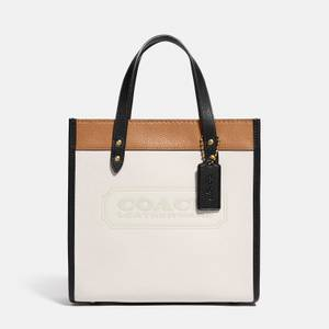 Coach Women's Colorblock Coach Badge Field Tote Bag 22 - Chalk Multi