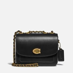 Coach Women's Refined Calf Leather Madison Shoulder Bag - Black
