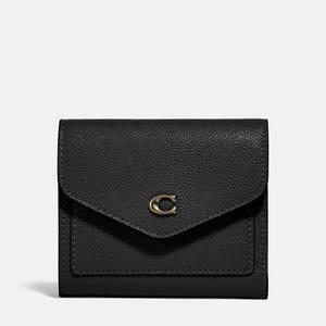 Coach Women's Crossgrain Leather Wyn Small Wallet - Li/Black