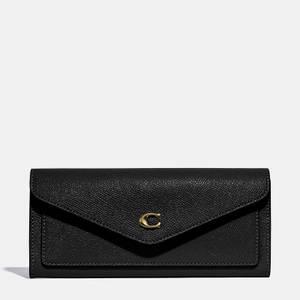 Coach Women's Crossgrain Leather Wyn Soft Wallet - Li/Black