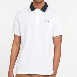 Barbour Beacon Men's Tipped Polo Shirt - White
