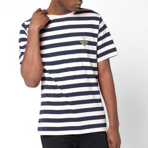 Barbour Beacon Men's Coast Stripe T-Shirt - Antique Candy