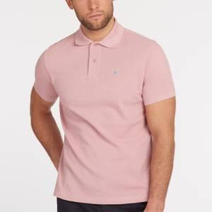 Barbour Men's Tartan Pique Polo Shirt - Faded Pink