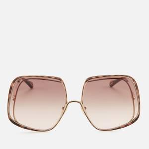 Chloé Women's Hannah Square Sunglasses - Gold/Brown