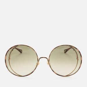Chloé Women's Hannah Round Sunglasses - Gold/Green