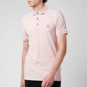 BOSS Casual Men's Washed Pique Polo Shirt - Light Pastel Pink