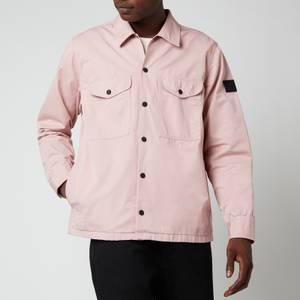 BOSS Casual Men's Heavyweight Cotton Overshirt - Light Pastel Pink