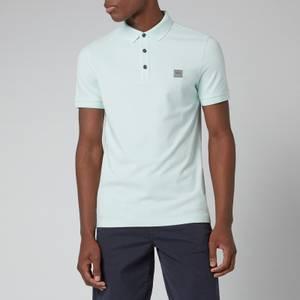 BOSS Casual Men's Washed Pique Polo Shirt - Open Green
