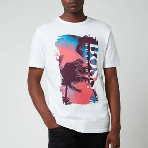 BOSS Casual Men's Tsummary T-Shirt - Natural