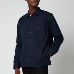 BOSS Casual Men's Heavyweight Cotton Overshirt - Dark Blue