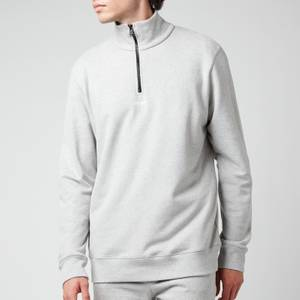 BOSS Casual Men's Zapper 1/4 Zip Jumper - Light Pastel Grey