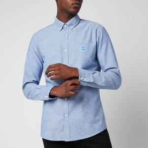 BOSS Casual Men's Oxford Slim Fit Shirt - Medium Blue