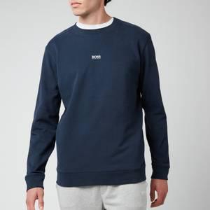 BOSS Casual Men's Chest Logo Sweatshirt - Dark Blue