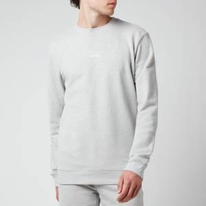 BOSS Casual Men's Chest Logo Sweatshirt - Light Pastel Grey
