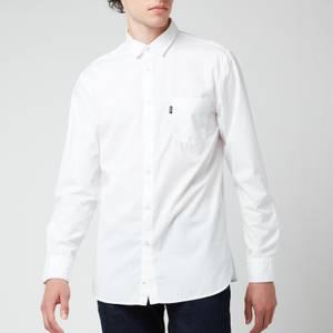 BOSS Casual Men's Magneton 1 Long Sleeve Shirt - White