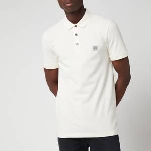 BOSS Casual Men's Washed Pique Polo Shirt - Light Beige