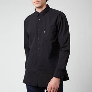 BOSS Casual Men's Logo Patch Slim Fit Shirt - Black
