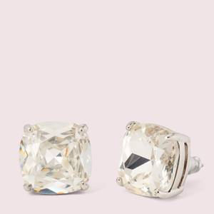 Kate Spade New York Women's Small Square Studs - Clear