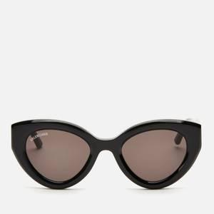 Balenciaga Women's Cat Eye Acetate Sunglasses - Black/Grey