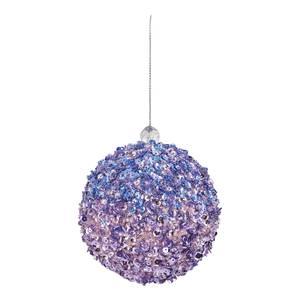 Purple Sequin Christmas Tree Bauble