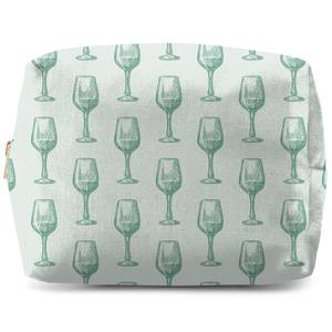 Wine Glass Pattern Makeup Bag