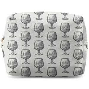 Whisky Glass Pattern Makeup Bag