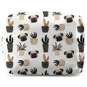 Pug & Cactus Makeup Bag