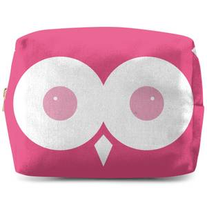 Pink Owl Makeup Bag