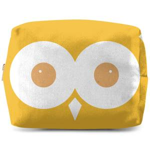 Yellow Owl Makeup Bag