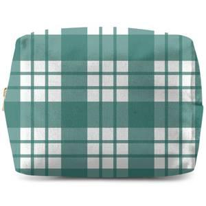 Tartan Green Makeup Bag